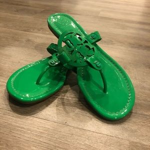 Green Tory Burch Millers!! Worn twice and like new